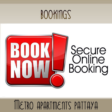 Room Bookings Metro Apartments Pattaya