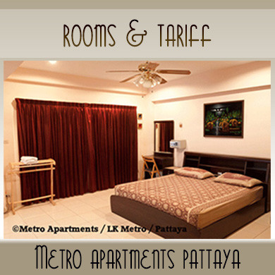 Rooms Tariff High and Low Season | Metro Apartments Pattaya