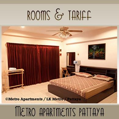 Rooms Tariff High and Low Season | Metro Apartments Pattaya